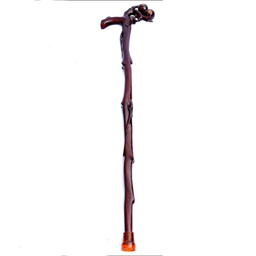 XUEPING Rietje Effen Hout Krukken 6 Soorten Modellen Prachtige Carving Betekenis Van Buitengewone Vrede En Levenslange Gezond 92 Cm Volgens de behoeften van hun eigen gesneden