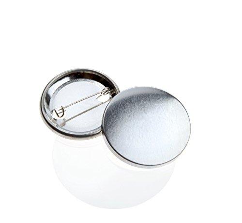Buttonrohlinge 38mm (100 Stück) für Badgematic Buttonmaschine mit Sicherheitsnadel