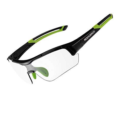 N-B Gafas De Ciclismo FotocromáTicas Gafas De Sol para Deportes Al Aire Libre Gafas De DecoloracióN Gafas De Bicicleta De Carretera MTB Gafas De Bicicleta