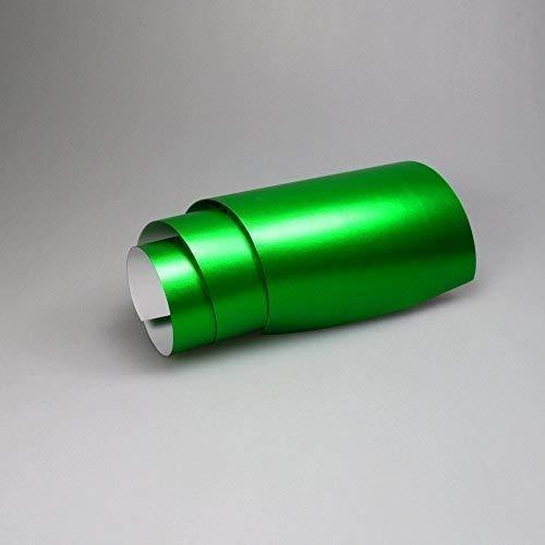 TipTopCarbon 16,45€/m² Chrom Autofolie Matt Ice Grün 0,5m x 1,52m Auto Folie BLASENFREI mit Luftkanälen 3D Flex