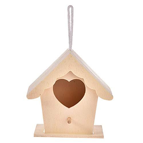 tidystore Nido De Ave De Pino Casa De Pájaros Casitas para Pájaros De Madera Al Aire Libre Jardin DIY Decoración Colgante Múltiples Especificaciones Propósito General