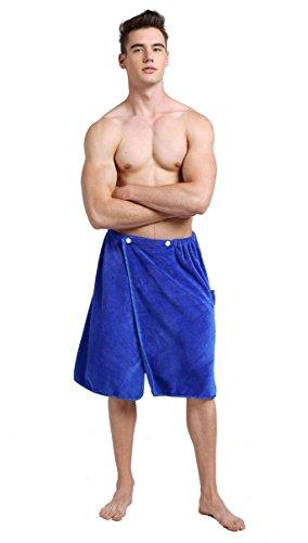 Sinland Microfiber Men's Spa Wrap Towel Bath Towel With Adjustable...
