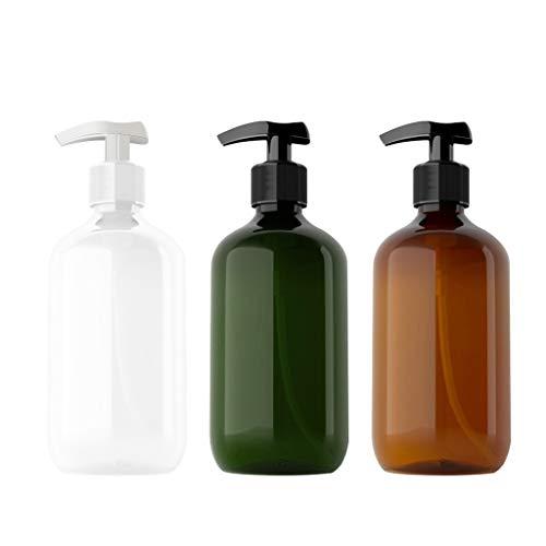 Y-POWER Botella dispensadora para baño y cocina – Recargable para champú loción aceite ducha jabón de manos y jabón de plato