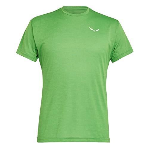 Salewa Herren Puez Dry M S/S Tee Hemden & T-Shirts, Pale Frog Melange, 50/L
