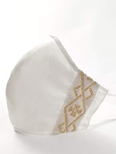 Mascherina lavabile per la comunione fatta a mano made in Italy 100%. Tre strati di cotone con tasca.