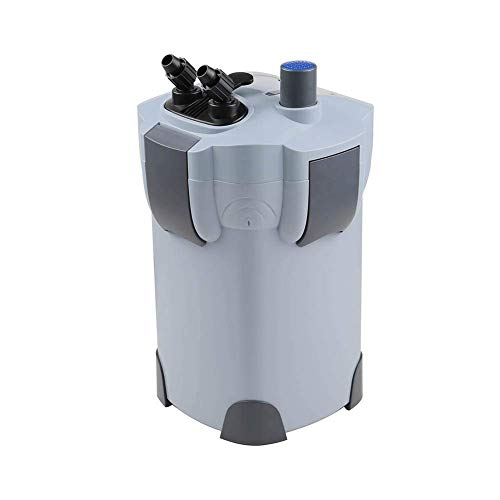 Polar Aurora 3-Stage External Canister Filter with 9-watt UV Sterilizer for Aquarium 265 GPH Builtin Pump Kit Canister