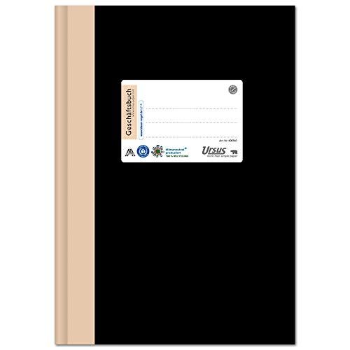 Staufen 608360 - Staufen Green Geschäftsbuch, DIN A4, hochwertiger Leineneinband, Lineatur 5 mm kariert , 96 Blatt, premiumweißes 80g/m² Recyclingpapier, 1 Stück