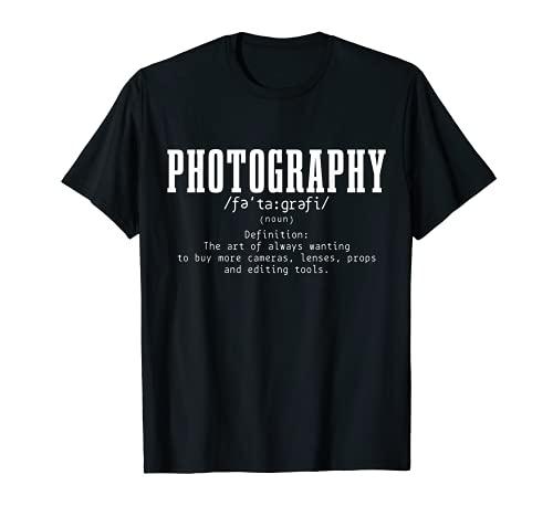 Fotografía Definición Diccionario Cámara Fotógrafo Divertido Camiseta