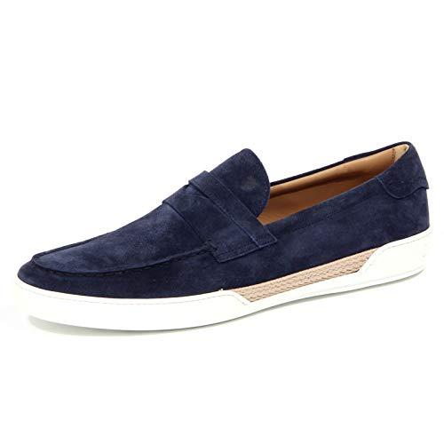 4108J Mocassino Uomo Blue Tod'S Scarpe Suede Shoe Loafer Man [9.5]