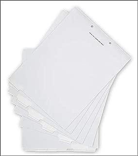 EGP Blank Label Chart Bottom Tab Set, 1 Box of 50, Size 8 1/2 x 11
