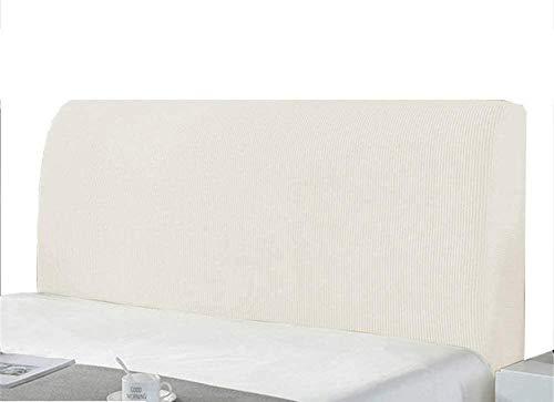 Elastische Bettkopfteil_ Bezug Kopfteilabdeckung Bettkopfteil Hussen StaubhüLle Bett Kopf Abdeckung Staubdicht Kopfteil Hussen Einfarbig Boxspringbett Kopfteilbezug_ Bett Bettkopfteil Hussen 180cm Wei