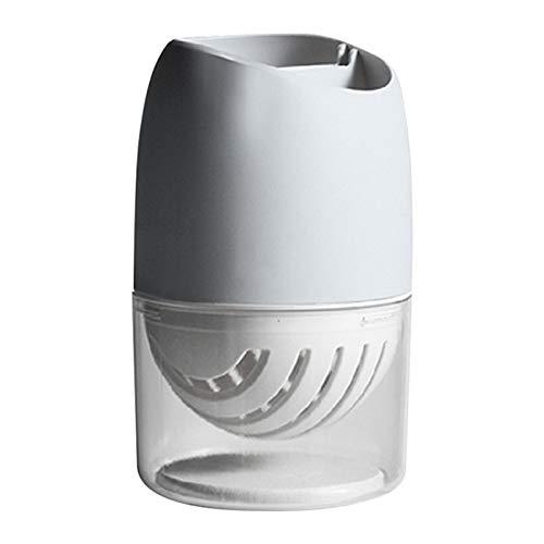 Precauti - Caja de almacenamiento de plástico para alimentos, cesta de drenaje, bandeja para cubiertos de cocina, a prueba de polvo, soporte para vajilla