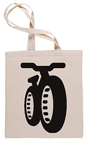 Wigoro Fatbike Einkaufstasche Tote Beige Shopping Bag