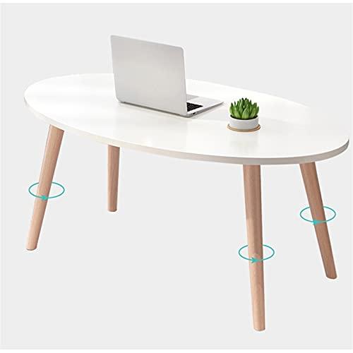 YAOLUU Diseño Moderno y Sencillo Mesa de café Oval Cocktail Table Small Sala de Estar Dormitorio Sofá Multifuncional Almacenamiento Rack TV Mesa de té 100 × 50 × 42cm Fácil de Montar (Color : A)