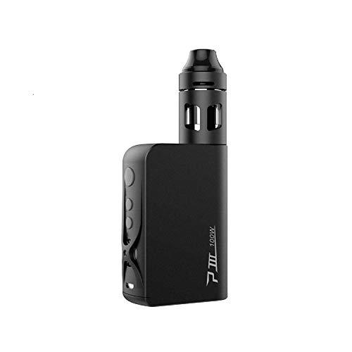 Vaptio P3 E-Cigarette Starter Kit, Electronic Cigarette 100 W Shisha Vaporizer Vape with 3000 mAh Electronic Sigara Box Mod E-Cigarettes and Smoke Vaper No Nicotine (rot) (schwarz)