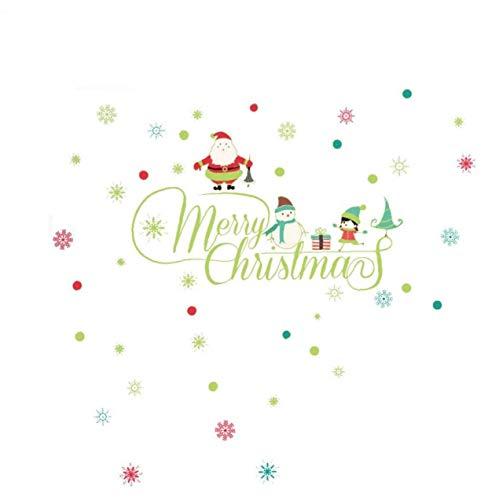 KHHGTYFYTFTY 30 * 60 cm de Navidad Etiqueta de la Pared, Etiquetas engomadas desprendibles de Pegatinas de Pared en la Sala de Estar o decoración Luminosa