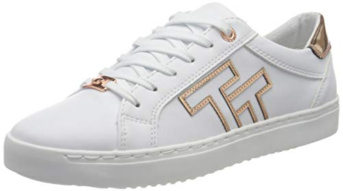 TOM TAILOR Damen 1193207 Sneaker, White-Rose-Gold, 40 EU