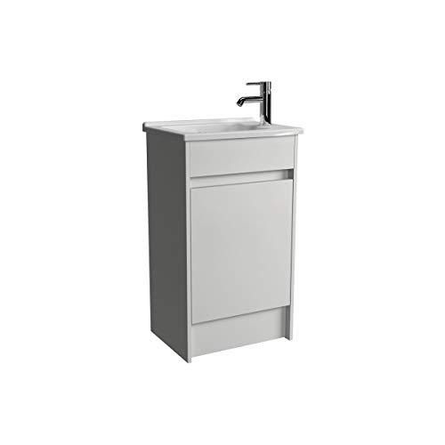Vitra S50 Waschkommode mit Waschbecken, glänzend, 50 cm, Weiß