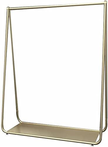 Riel de ropa, riel de metal pesado para ropa, chaqueta de ropa, camisa formal, perchero y zapatero, portaequipajes dorado/dorado/150×40×160cm.