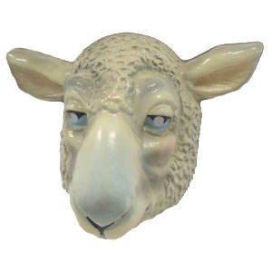 Festartikel Müller Hartplastik Tier-Maske für Erwachsene Schaf