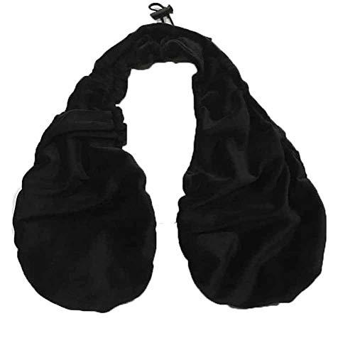 Sujetador de Toalla - Cómodo Top de Toalla Informal, Sujetador de Terciopelo de algodón sólido Transpirable de Doble Cara Sujetador de arnés de Toalla de Deporte Suave y Sexy (Negro, L)