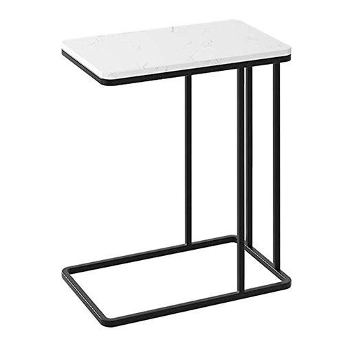 Mesa de Centro, Mesa de Esquina en el Pasillo de la Sala de Estar de la Cocina, Mesa de Muebles de sofá de mármol para el hogar-50 * 30 * 58CM_Negro