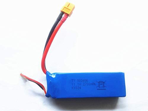 GzxLaY Batteria di Backup ad Alte Prestazioni Lipo 3S 11.1v 2700mAh Batteria per Wltoys X380 V303 V939 Cheerson CX-20 CX 20 Batteria Lipo RC Quadcopter Drone parts-1PCS ( Color : 1pcs )