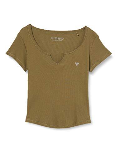 Guess SS Diana Top Camiseta, Verde, L para Mujer