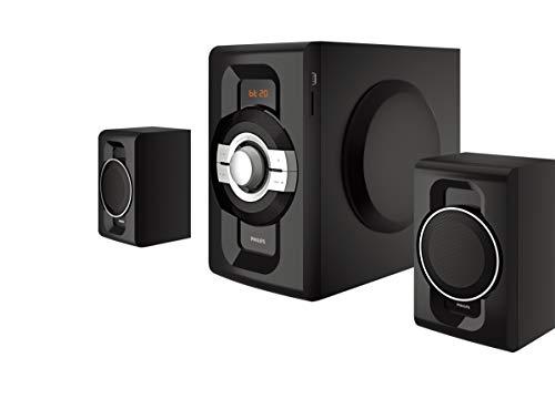 Philips Audio MMS2260B 2.1 CH Bluetooth Multimedia Speakers, Black