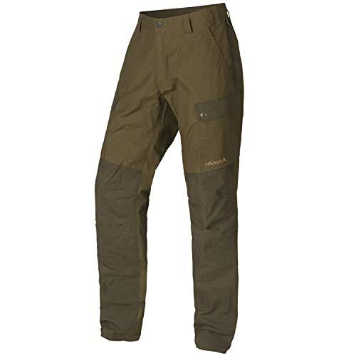 Pantalón de caza impermeable para hombre de Härkila Asmund – Pantalones para cazadores – Pantalones de caza silenciosos con tratamiento de cera, todo el año, Hombre, color verde, tamaño 60