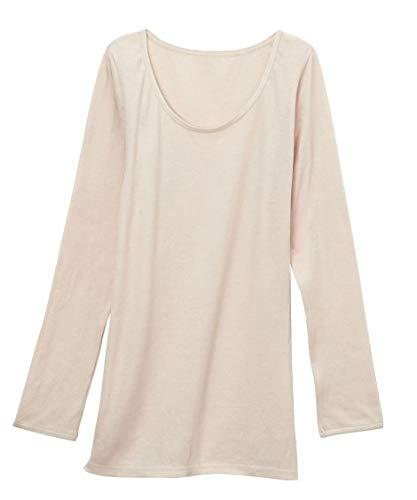 [nissen(ニッセン)] インナーシャツ 標準サイズ 肌着・インナー 日本製 綿100%スーピマ綿ガーゼ8分袖インナ...