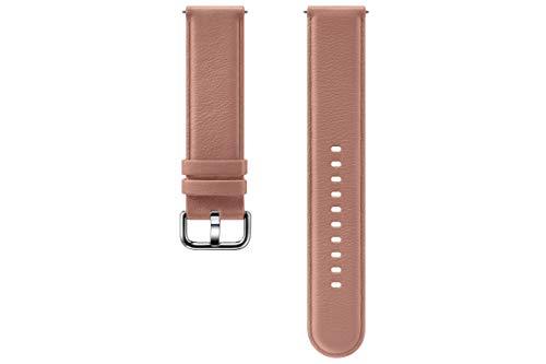 Samsung Galaxy Watch Active2 Lederarmband, Pink Gold