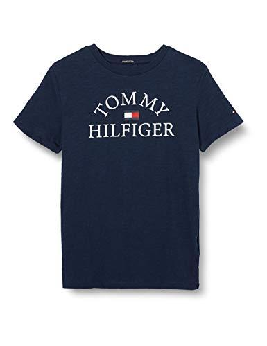 Tommy Hilfiger Essential Logo tee S/s Camiseta, Azul (Twilight Navy 654/860 C87), Talla Única (Talla del Fabricante: 86) para Niños