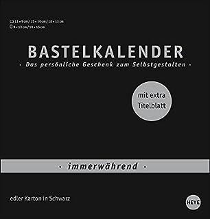 Bastelkalender Premium immerwährend schwarz mittel - edler Karton in Schwarz - mit extra Titelblatt und jahresunabhängigem...