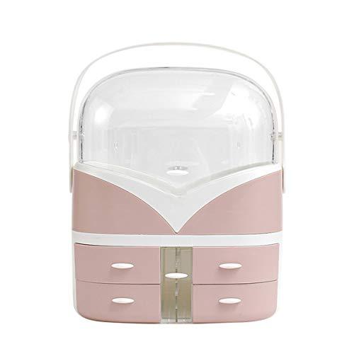 MxZas Make-up-Display-Boxen Transparenter staubdichter kosmetischer Aufbewahrungsbox Große Kapazität Home Desktop-Dressing-Tisch-Finishing-Rack Make-up-Caddy-Halter