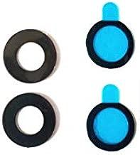 for Google Pixel 2XL Back Camera Glass Lens - [2 Pack] Black Back Rear Camera Glass Lens Cover + Adhesive Fix Repair Replacement Parts