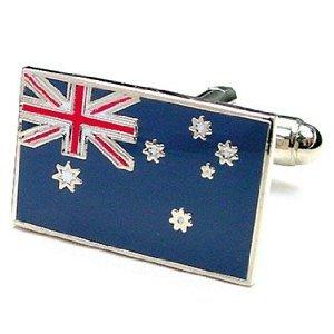 Boutons De Manchette Drapeau Australien (Avec Boîte-Cadeau)