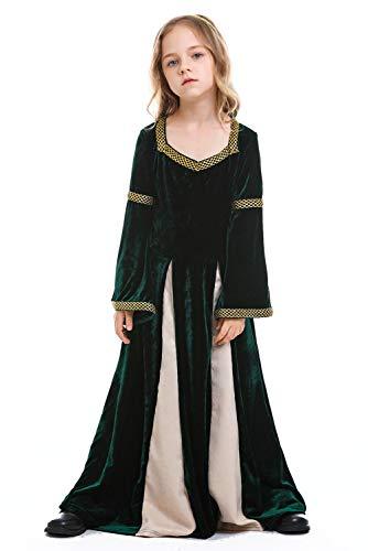 Tollstore Kinder Mädchen Mittelalter Kostüm viktorianischen Königin Kostüm mittelalterlichen Adels Palast Prinzessin Kleid S