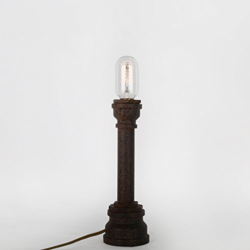 ZWL Loft Lampe de Table rétro, Lampe à métal Pipe Lampe de Table décorative Lampe de Table Lampe de Bureau Lampe de Bureau Lampes E27 décoratives 9 * 28CM Fashion.z (Taille : 9 * 28CM)