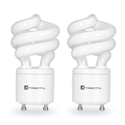 Compact Fluorescent Light Bulb T2 Spiral CFL, GU24 Base, 2700k Soft White, 13W (60 Watt Equivalent), 900 Lumens, 120V, UL Listed (2 Pack)
