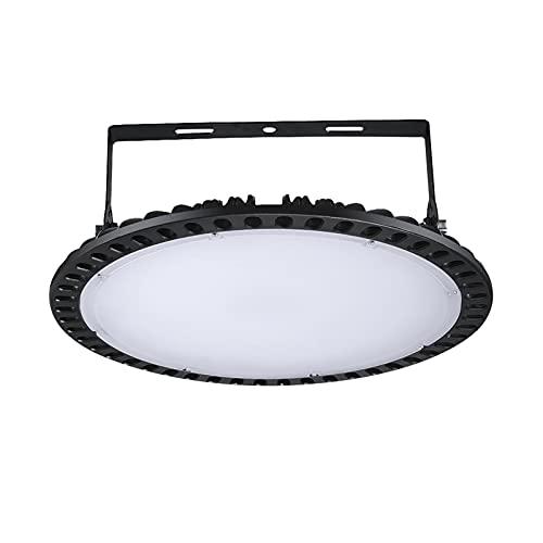 kingpo Lámpara industrial LED UFO, 300 W, foco LED para taller, iluminación interior, 6500 K, luz blanca fría, ángulo de dispersión de 120°, iluminación de taller para talleres y fábricas