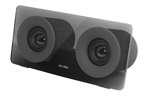 Elbe ALT-432-NE - Altavoz Bluetooth portátil, doble salida de audio, 6 W, Aux-In, color negro