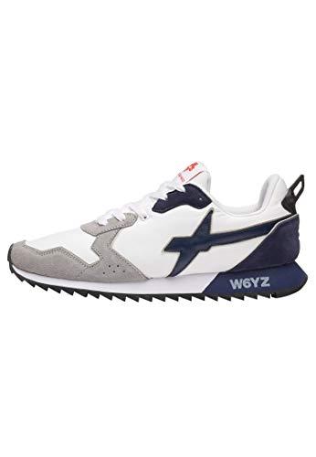 sneakers uomo wizz w6yz Jet-M.-Sneaker in Suede e Nylon-Bianco-Grigio Bianco 42