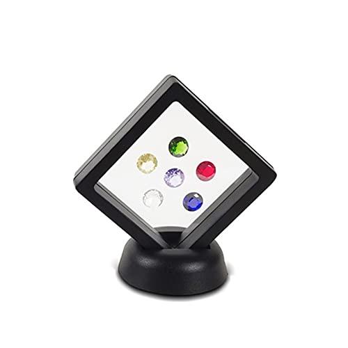 WNAVX 3D flottante Fotografica Fotografica Shadow Box shoey Jewelry Stand Ring Pendente Supporto Proteggere Gioielli in Pietra Display Scatola (Color : Blace 7x7cm)
