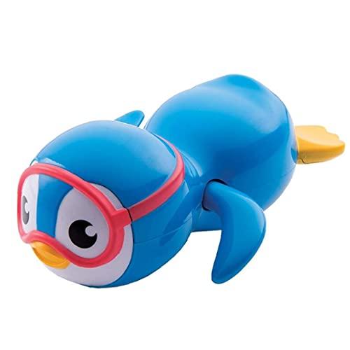 GGOOD Juguete Bath bebé de Juguete de Viento de hasta Pingüino de la natación para los niños pequeños Juguetes Juguetes flotantes Ecológico Azul Material 1pc educativos