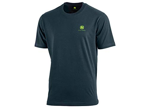 John Deere Herren T-Shirt mit Logo vorn und hinten (Dunkelblau, XXXL)