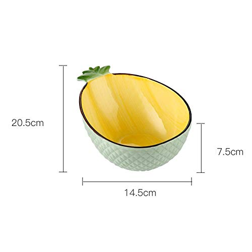 Assiette De Diner Vaisselle À L'Ananas Bol en Céramique Simple Salade De Fruits Assiette Plate Chine Style Dessins Animés Ustensiles De Cuisine Servic