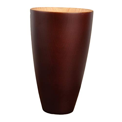 Gazechimp Taza de Madera Simple Vaso Taza de Té Café Leche Jugo Taza Regalo Respetuoso del Medio