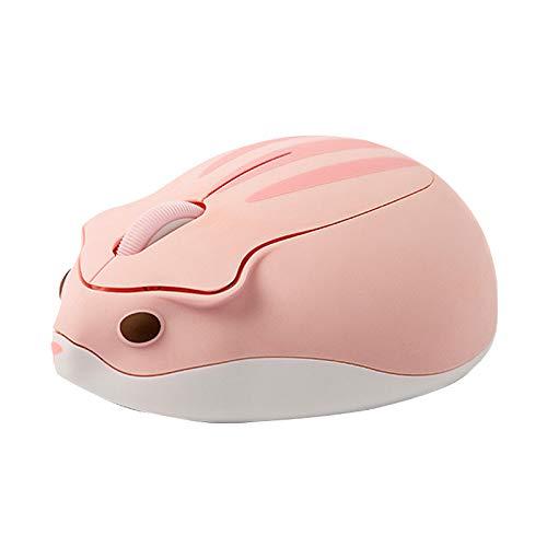 HEYB Ratón con forma de hámster de 2,4 GHz, color rosa,...