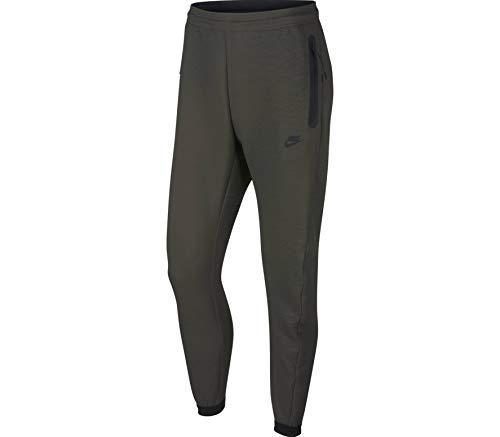 NIKE Pantalones de entrenamiento para hombre Tech Track Woven Newsprint/Gris, L